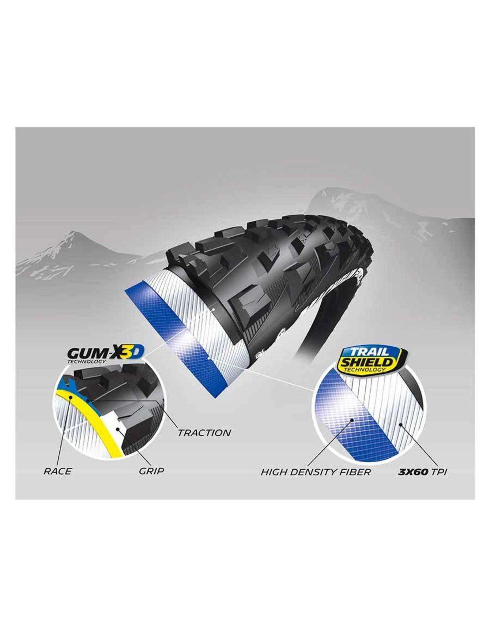 Pneu Michelin Force AM 27.5x2.35 Gum-X Tubeless Ready