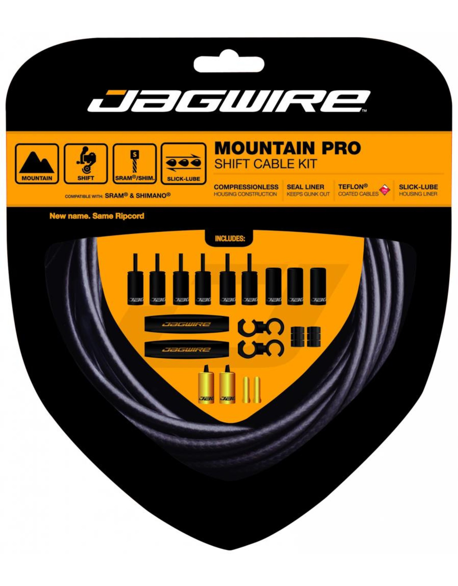 Jagwire RipCord Shift Cable and Housing Set - Green