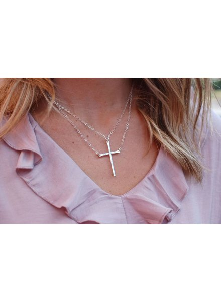 Be Still Cross - Sterling Silver
