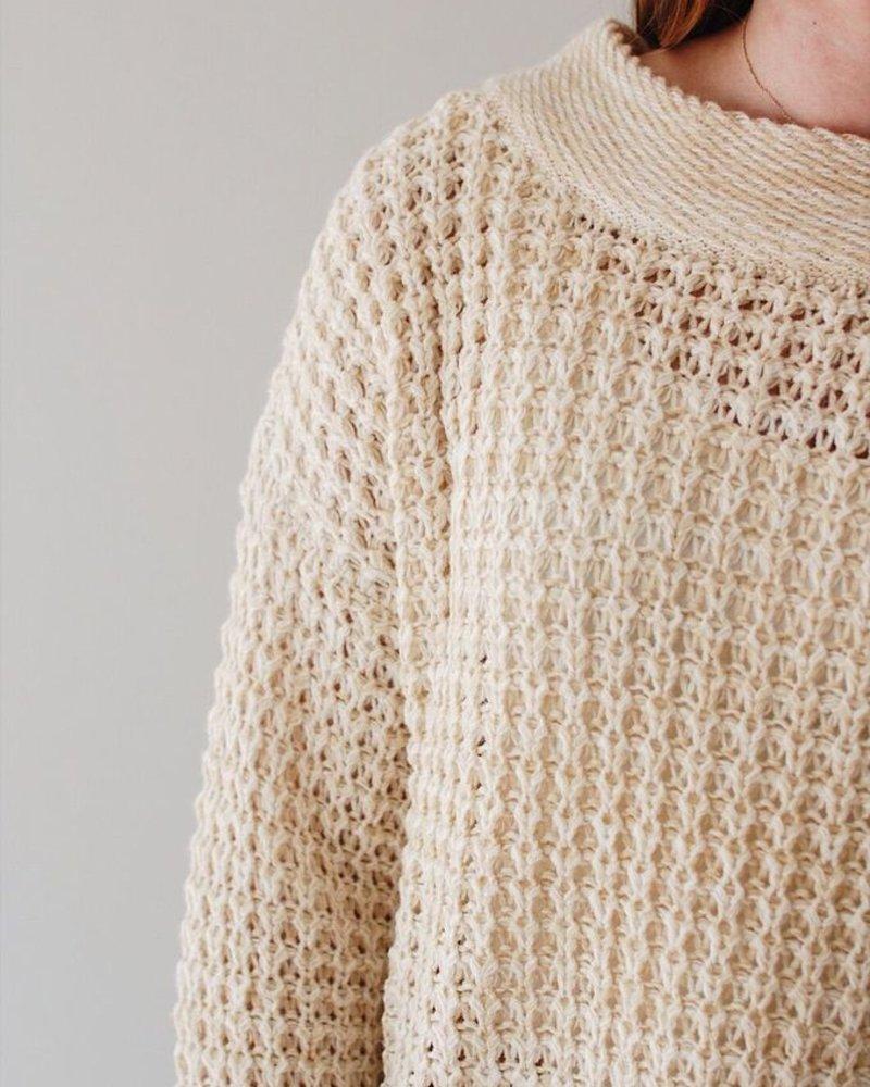 Cream Lace-Up Back Sweater - Epiphany Athens - Epiphany Athens b5082c147