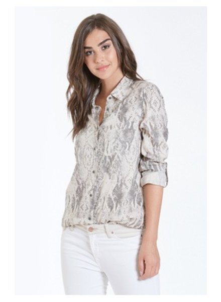 The Sophia Snake Print Shirt