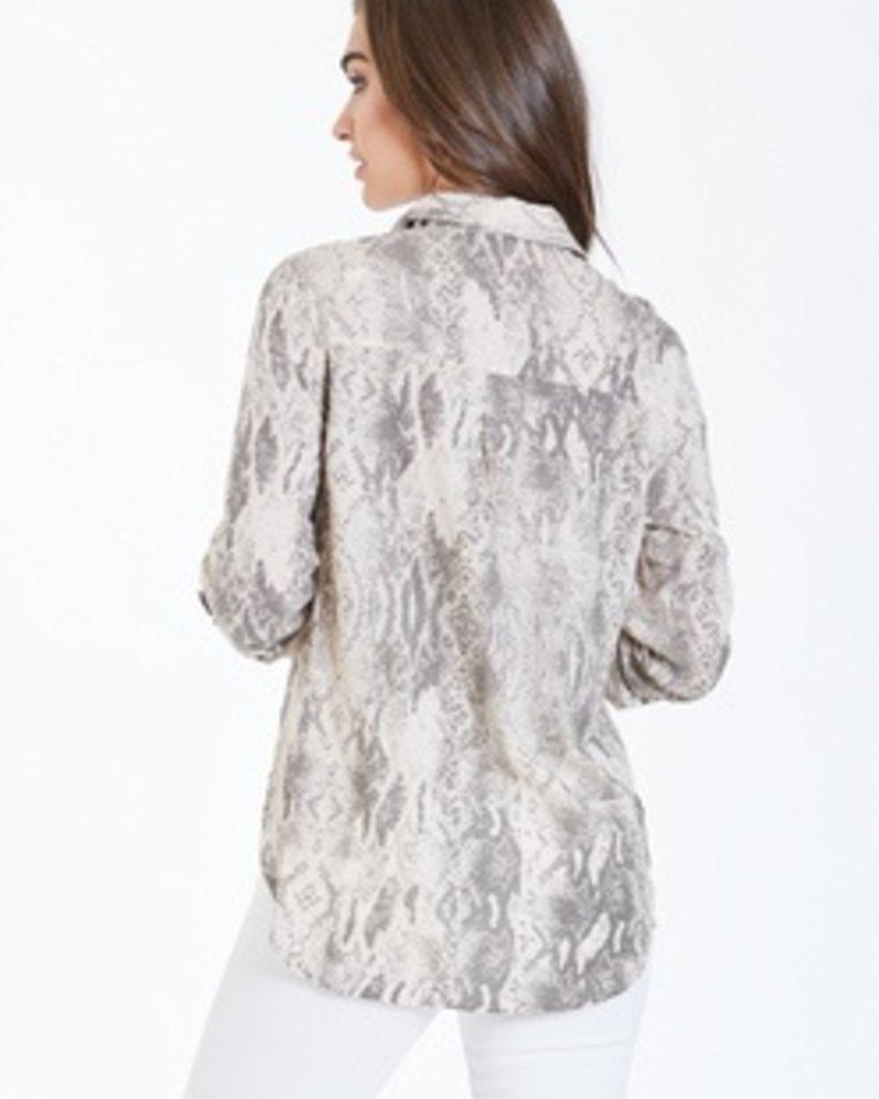The Sophia Snake Print Shirt