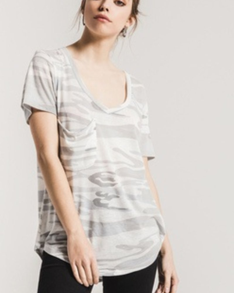 Z-Supply Camo V Neck Pocket Tee