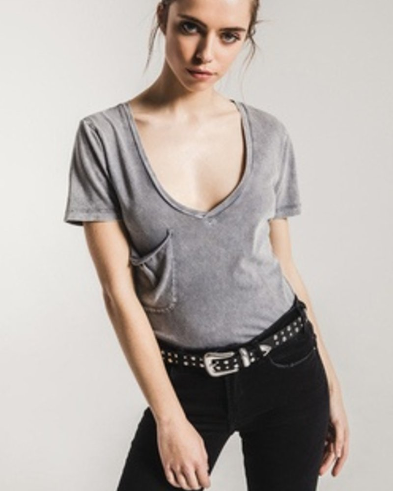 Z-Supply Pocket Tee in Washed Grey