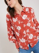 The Merrick Floral Button Top