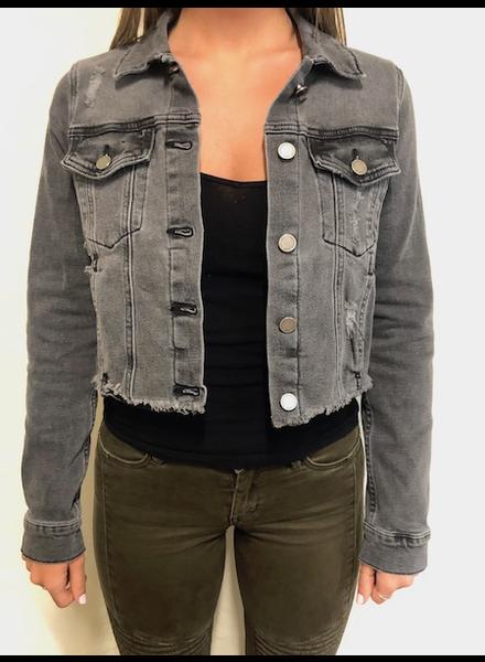 The Kimberly Cropped Denim Jacket