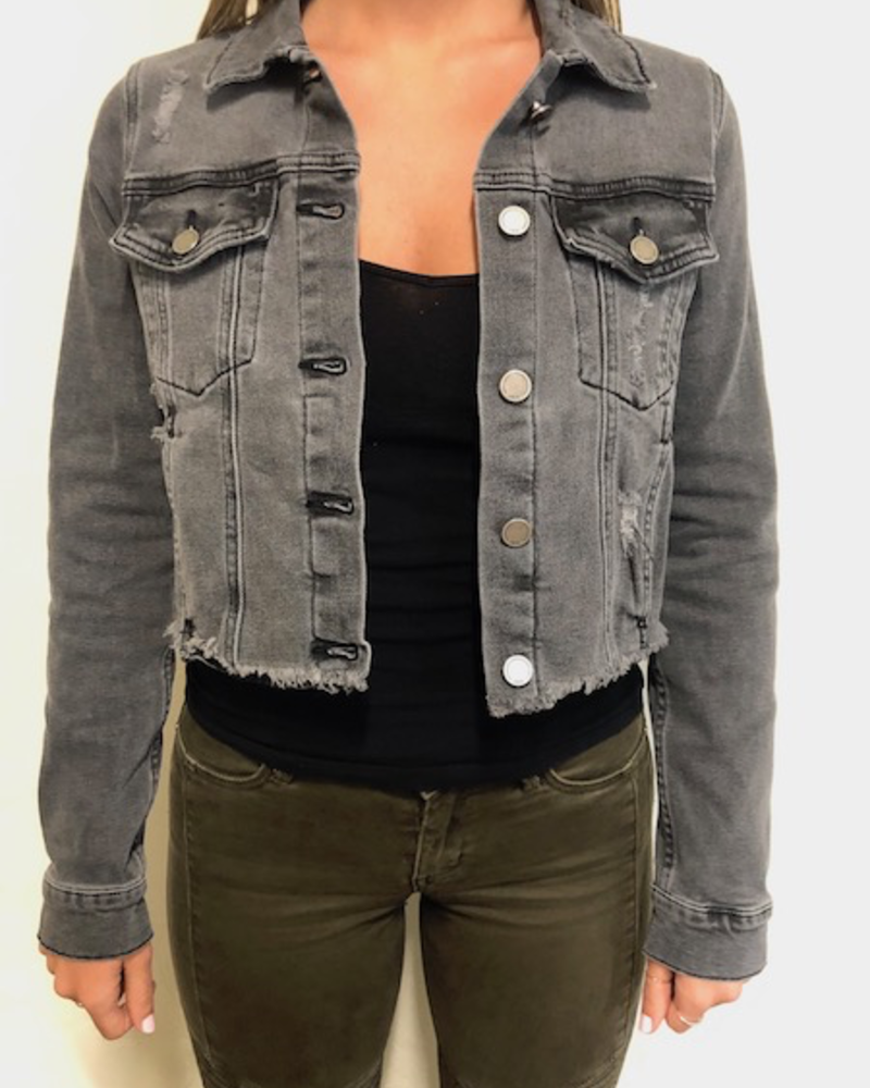 The Kimberly Cropped Denim Jacket