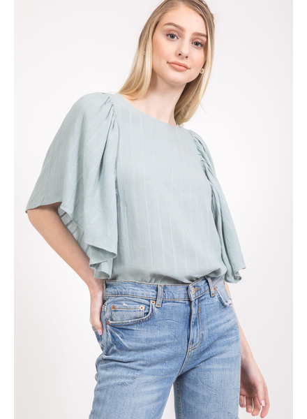 The Holcomb Flared Sleeve Top
