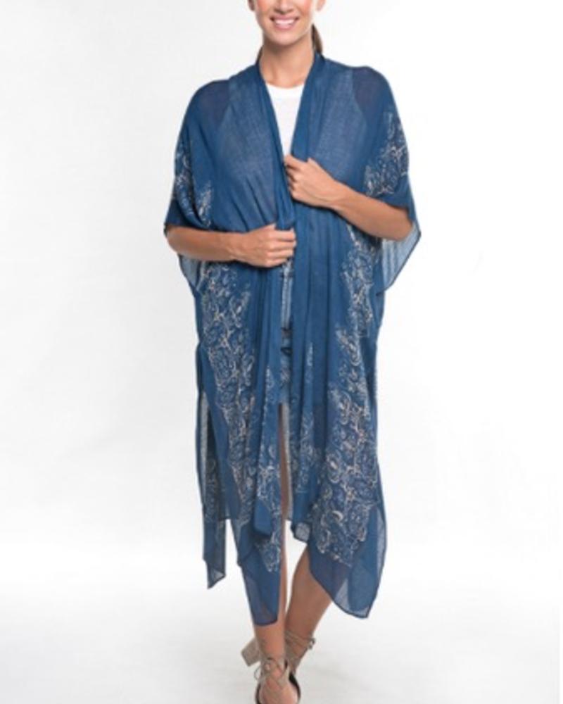 The Indigo Open Front Kimono