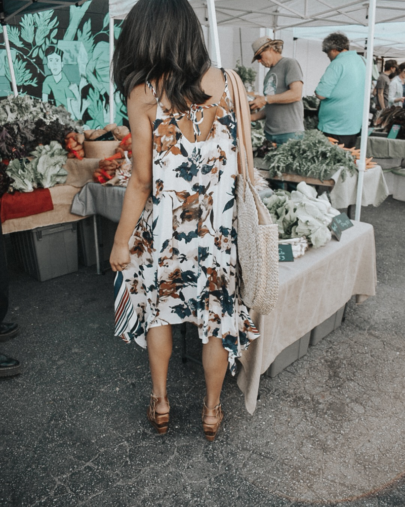 The Mary Printed Hankerchief Dress