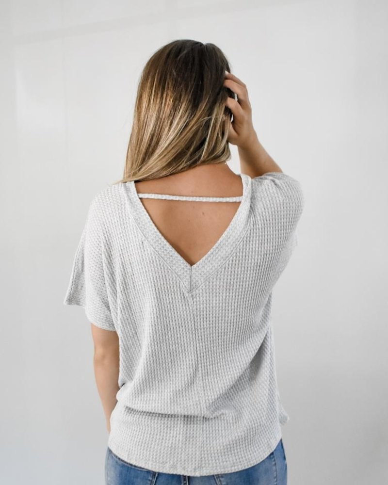The Sutton Waffle V-neck top
