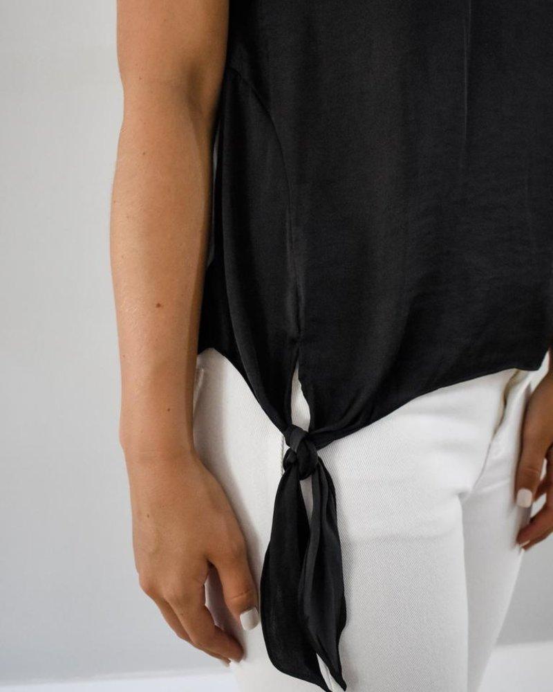 The Maria Silk Tie Top