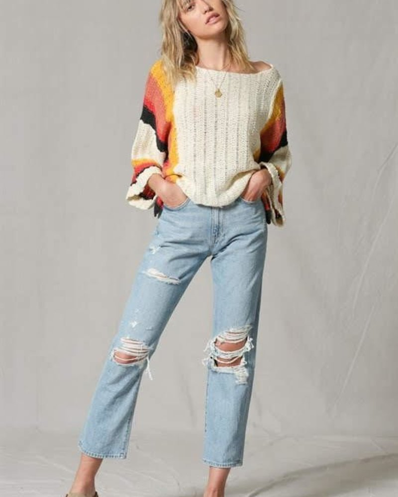 The Lauranne Drop Shoulder Striped Sweater