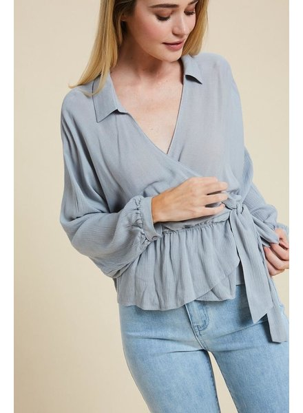 The Richie Wrap Top