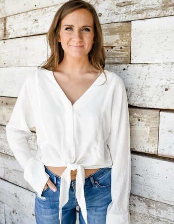 The Bess Tie Front Blouse