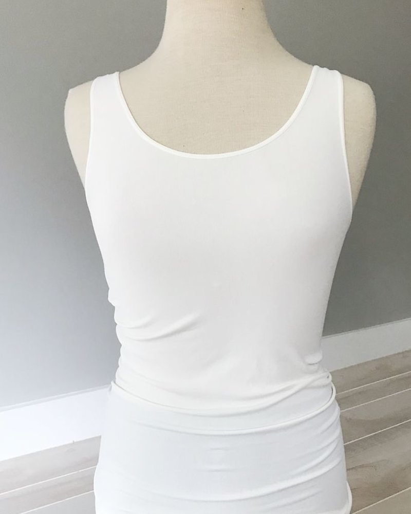 NikiBiki Tank Top in Black + White + Ivory