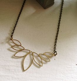 RAW BRASS PENDANT NECKLACE