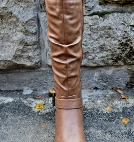 TAXI OLIVIA TALL TAN WIDE CALF BOOT