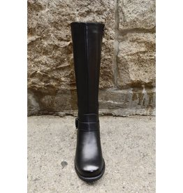 TAXI ADELE BLACK TALL BOOT WIDE CALF