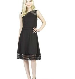 PAPILLON BLACK FIT & FLARE DRESS
