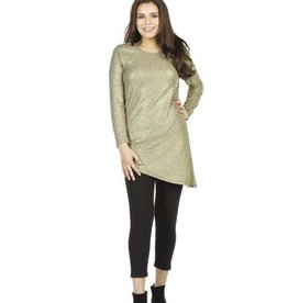 PAPILLON GOLD RIBBED LONG SLEEVE TUNIC