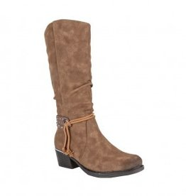 ALBERTO SWAN TALL BROWN BOOT