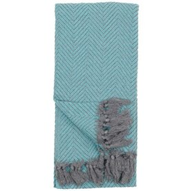 POKOLOKO LARGE FISHBONE TURKISH TOWEL
