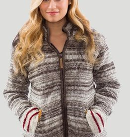 KYBER WEAR WOMEN'S LONG SOCK MONKEY ZIP JACKET