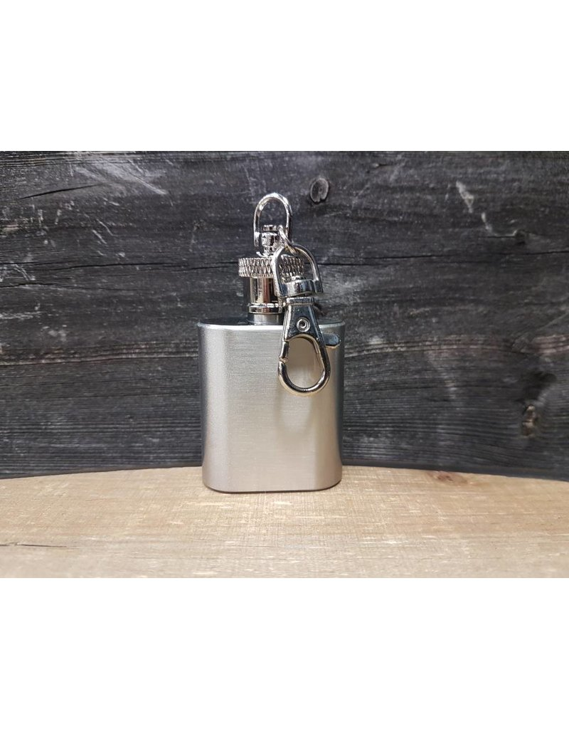 STAINLESS STEEL FLASK KEY RING