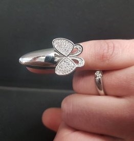 STERLING SILVER FINGER TIP BUTTERFLY RING