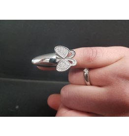 BIJOUX STERLING SILVER FINGER TIP BUTTERFLY RING