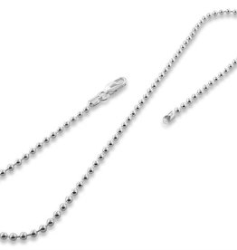 STERLING SILVER BALL CHAIN - 18""