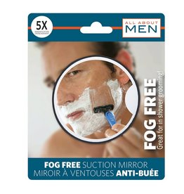 MENS SUCTION ANTIFOG SHAVING MIRROR