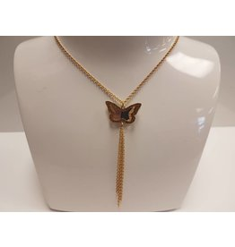 BIJOUX STERLING SILVER GP BUTTERFLY NECKLACE