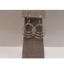 BIJOUX STERLING SILVER MULTI CIRCLE EARRINGS
