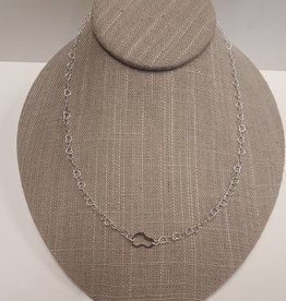 STERLING SILVER HEART LINK CHAIN-18""