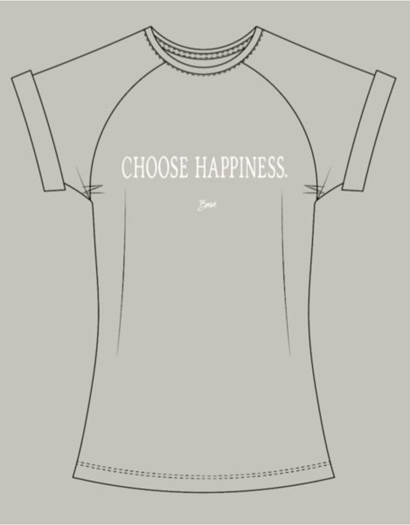AUTHENTIC BRAVE APPAREL CHOOSE HAPPINESS T-SHIRT