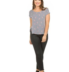 PAPILLON FLAMINGO BLOUSE S/SLV TOP