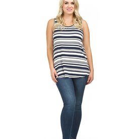 PAPILLON NAVY STRIPE TANK TOP