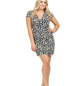 PAPILLON DAISY SSLV WRAP DRESS