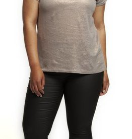 DEX V-NECK TOP w/TABS ON SLEEVE