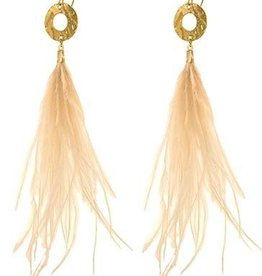 BY CHANCE OSTRICH FEATHER EARRINGS