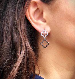 BY CHANCE ROSE GOLD DANGLE CZ EARRINGS