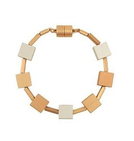 BY CHANCE MAGNETIC BRACELET w/CUBE ACCENTS