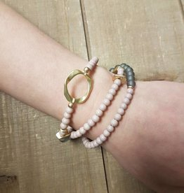 BY CHANCE BEADED STRETCH BRACELET w/GOLD ACCENTS