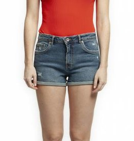 DEX HIGH RISE DISTRESSED CUFFED DENIM SHORT