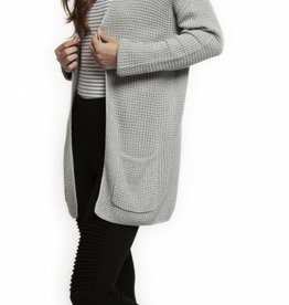 DEX GREY KNIT OPEN CARDIGAN
