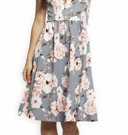 DUSTY BLUE FLORAL DRESS
