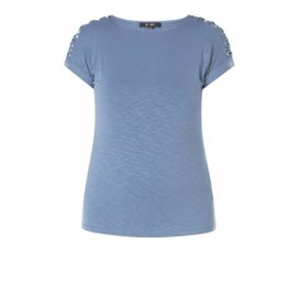 YEST KNOTTED SHOULDER T-SHIRT