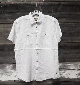 POINT ZERO BUTTON FRONT SHORT SLEEVE LINEN SHIRT